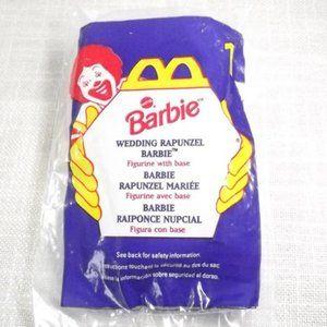 1996 Wedding Rapunzel Barbie McDonald's Toy Sealed
